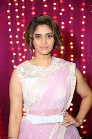 Surabhi in Designer Pink Saree and White Sleeveless Choli at Zee Telugu Apsara Awards 2017 10.JPG