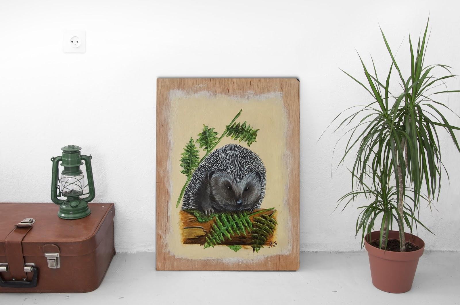 The Doodling Dutchie Woodland Life Hedgehog Hello