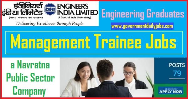 EIL Recruitment 2019 Management Trainee (GATE-2019) 79 Posts