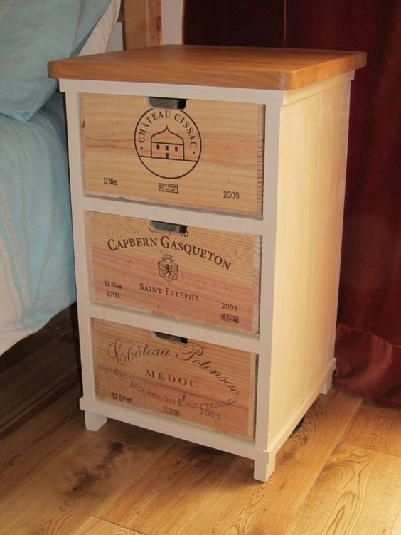 Meuble Caisse En Bois Wine Crates And Boxes: 8 Most Popular Wine Crate Diy Ideas