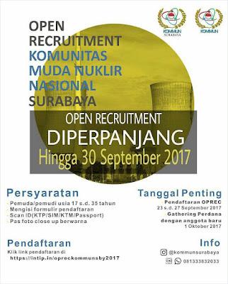 Perpanjangan Open Recruitment KOMMUN Surabaya