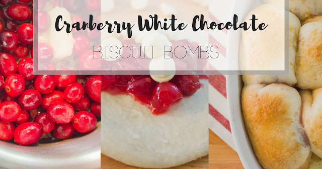 Biscuit Bombs, Biscuit recipes, Cranberry desserts, cranberry white chocolate, cranberry white chocolate biscuit bomb, biscuit roll dessert, biscuit dessert, thanksgiving dessert, easy fall dessert, Christmas dessert, Christmas Party dessert, Friendsgiving dessert, semi homemade dessert, jelly filled donut
