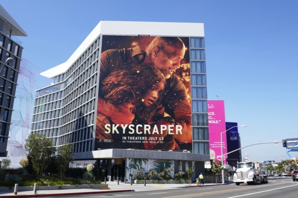 Giant Skyscraper movie billboard