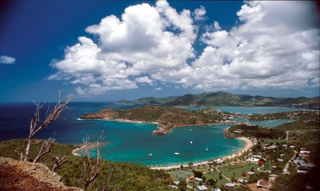 Antigua et Barbuda vue aérienne