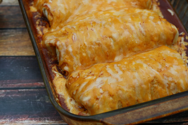 Shredded Beef Wet Burritos