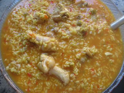 Arroz con pollo al curry Thermomix
