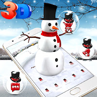 3D Ice Snowman Theme ☃️Apk free Download for Android