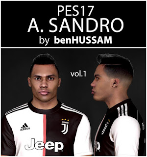 PES 2017 Faces Alex Sandro by BenHussam