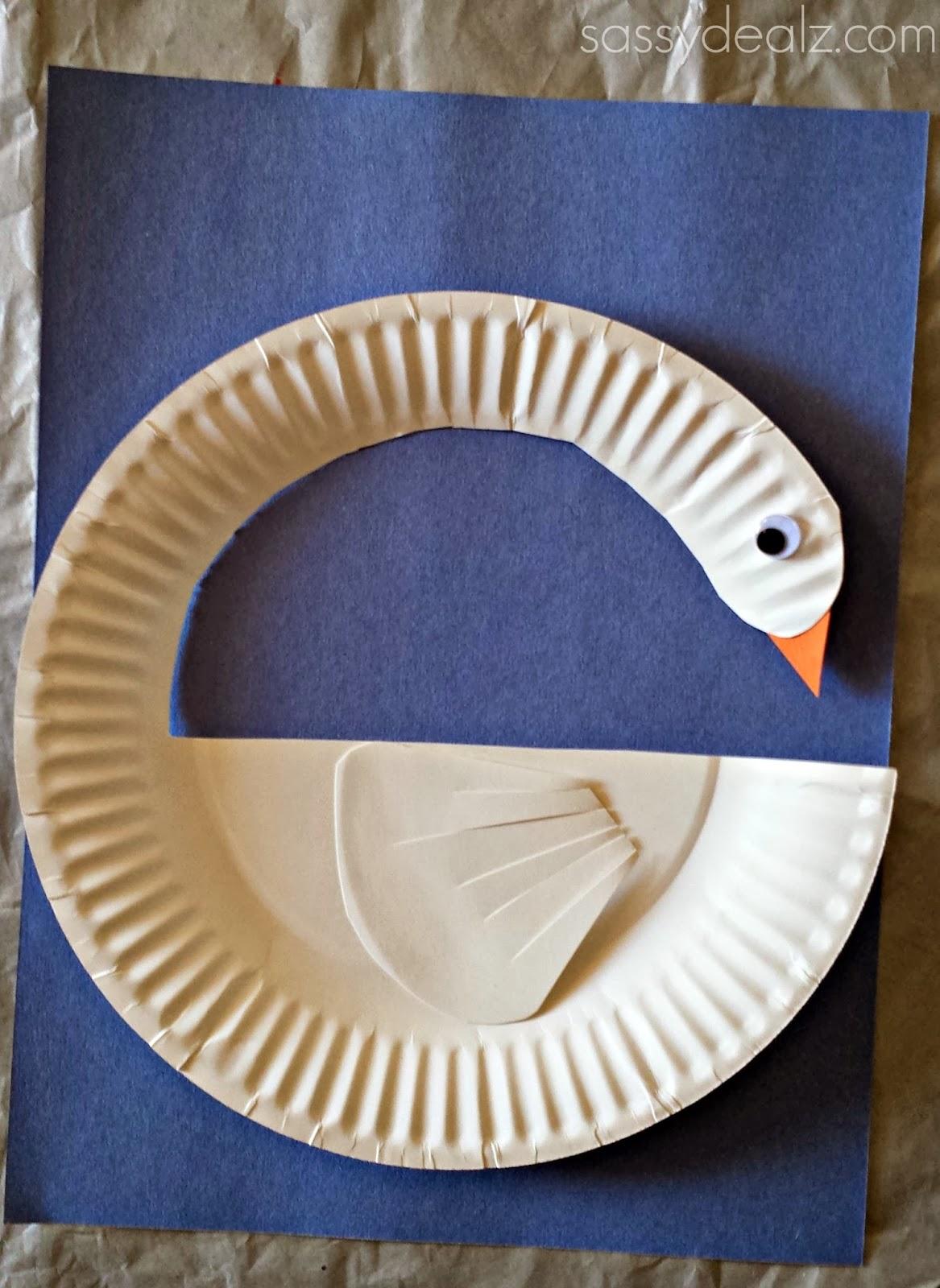Paper Crafts For Kids: DIY Swan Paper Plate Craft For Kids