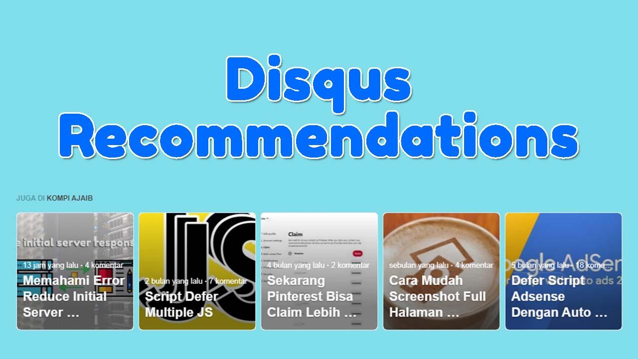 Memasang Disqus Recommendations di Luar Komentar