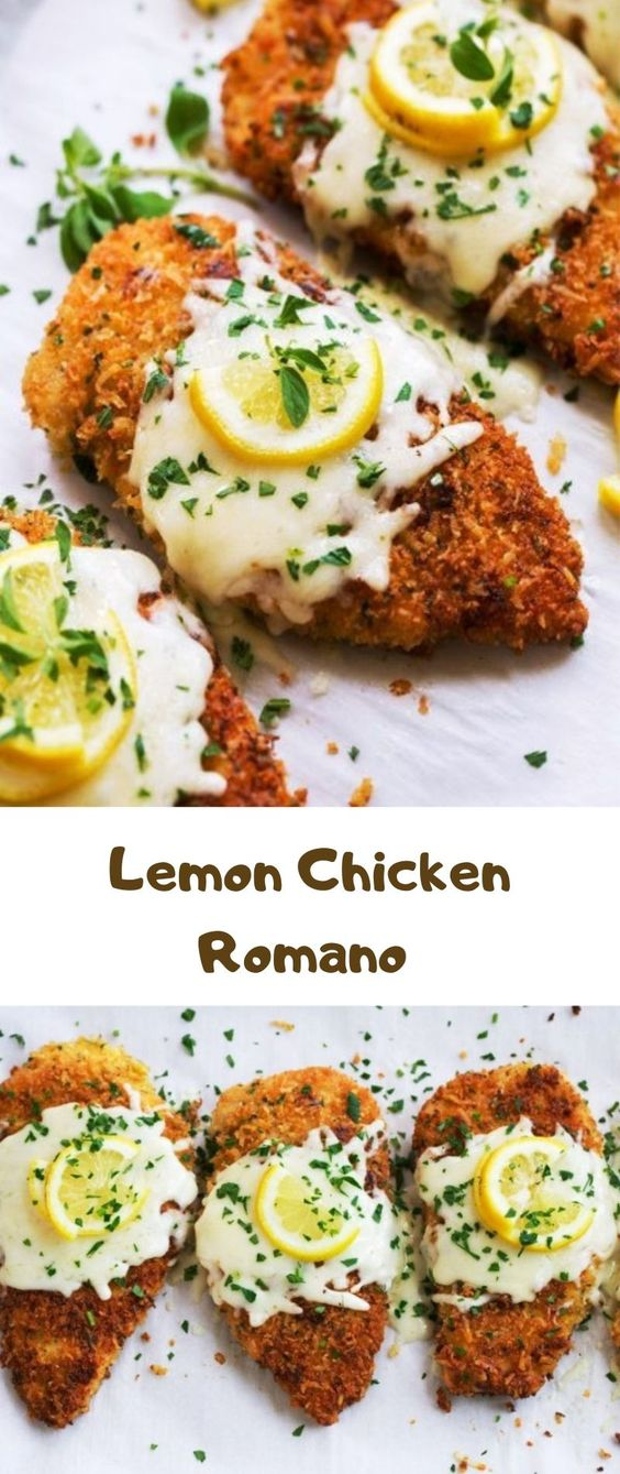 EASY LEMON CHICKEN ROMANO RECIPE