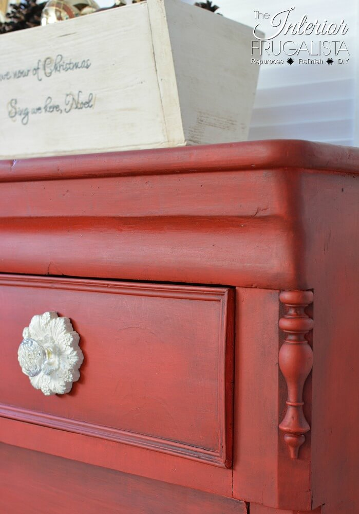 Red Empire Dresser Makeover - 8th Most Popular Post of 2018