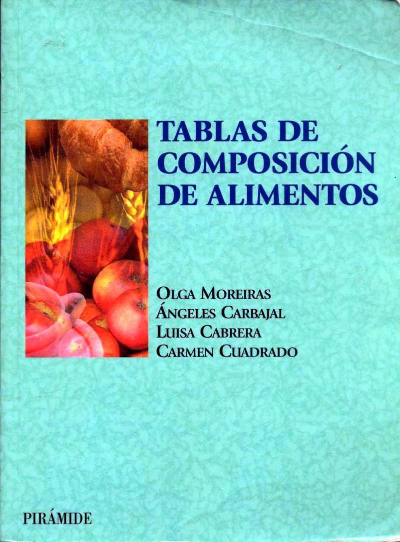 Tablas de composición de alimentos – Olga Moreiras