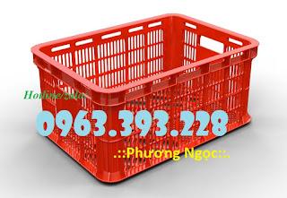 Sọt nhựa HS018, sọt đựng trái cây, sóng nhựa rỗng chứa đồ Thung-nhua-rong-hs018-kt-525-x-370-x-215-mm
