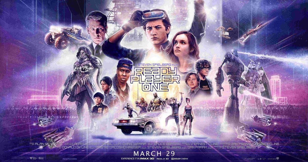 READY PLAYER ONE Movie PHOTO Print POSTER Textless Film Art Steven Spielberg 002
