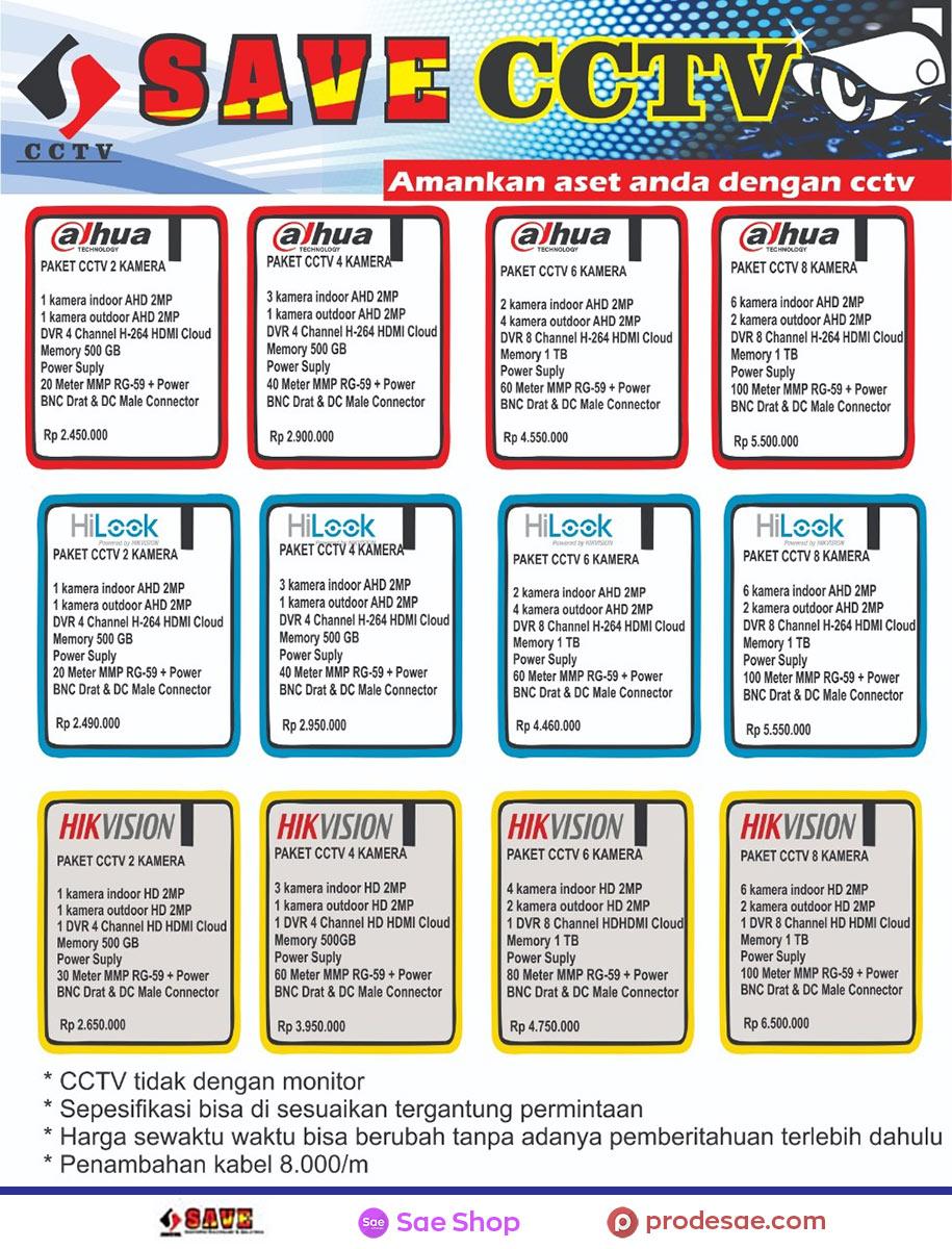 Daftar Harga Paket CCTV Temanggung