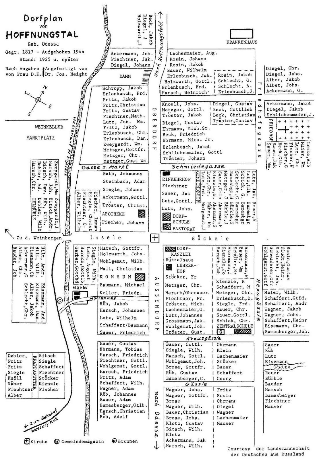 Germans from Russia Settlement Locations Hoffnungstal Tiraspol