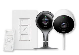 image of nest cam and lutron caseta
