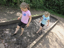 Little Girls Barefoot Mud
