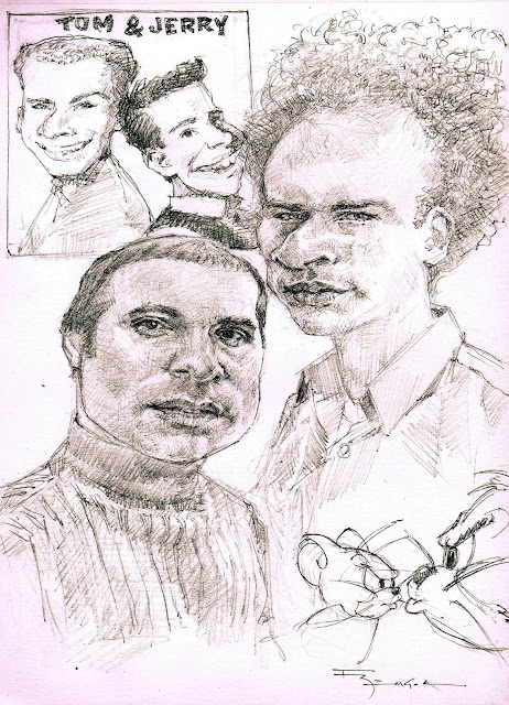Paul simon Art Garfunkel caricature fede bengoa