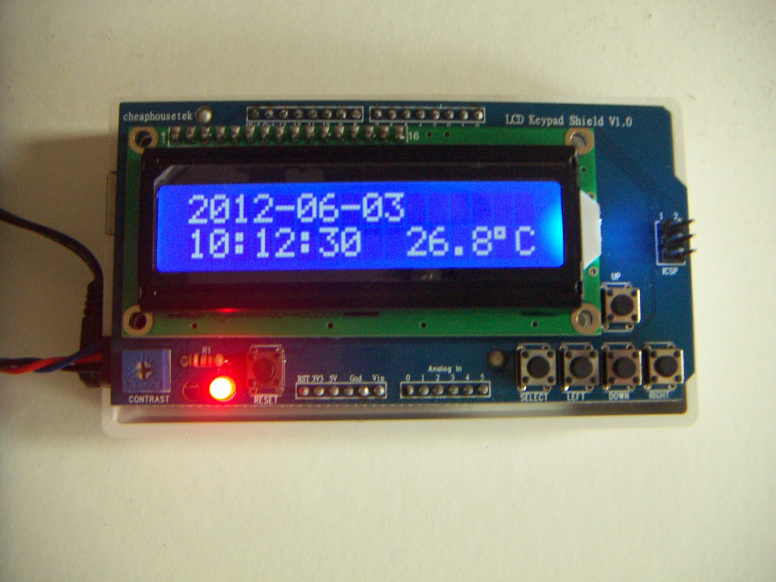 cheaphousetek: Freeduino/Arduino + Real Time Clock Sensor Shield +