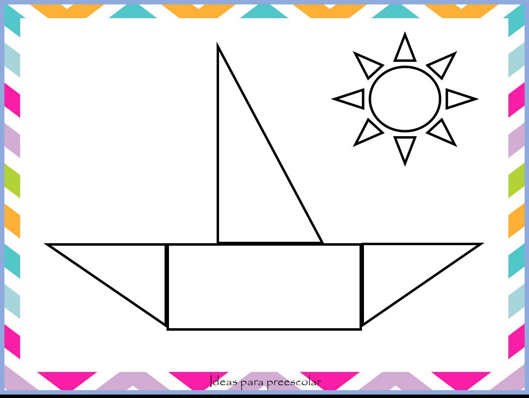 Figuras Para Colorear Para Niños De Preescolar: Ideas Para Preescolar: Dibujos Con Figuras Geométricas