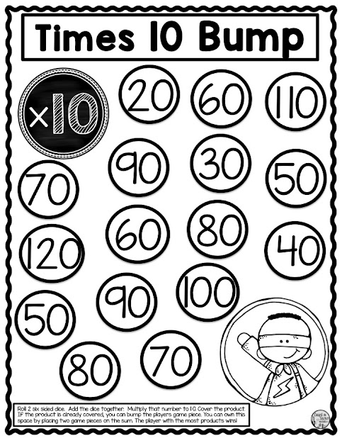 Multiplication math facts fluency games and activities for second grade math and third grade math free