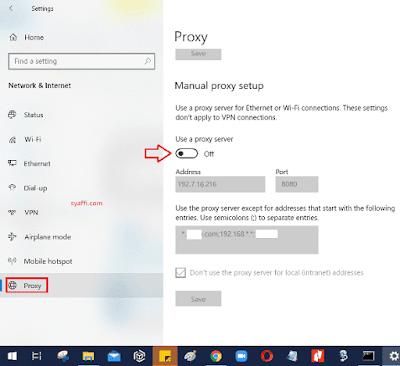 Cara Setting Proxy Windows 10