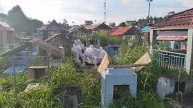 Pemakaman Jenazah Covid-19 di Desa Paslaten mendapatkan pengawalan serta pengamanan Polsek Kauditan
