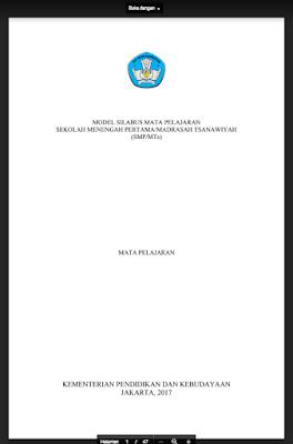 Silabus Bahasa Indonesia SMP/MTS Kurikulum 2013 Revisi 2017