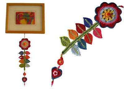 Tutorial tejiendo flor colgante decoración