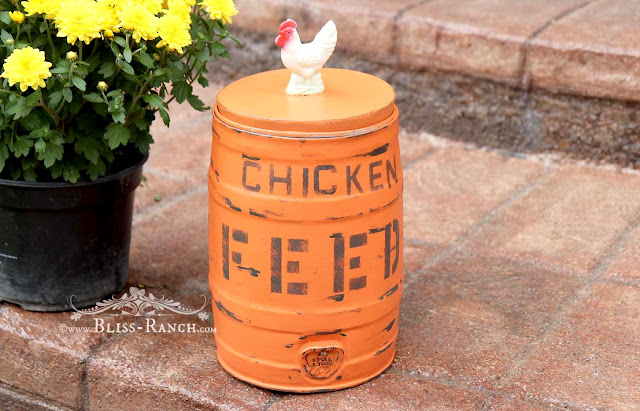 Chicken Feed Can Fusion Tuscan Orange