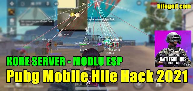pubg mobile kore server hile hack mod apk esp