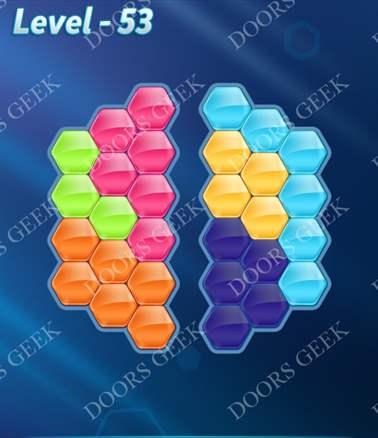 Block! Hexa Puzzle [Intermediate] Level 53 Solution, Cheats, Walkthrough for android, iphone, ipad, ipod