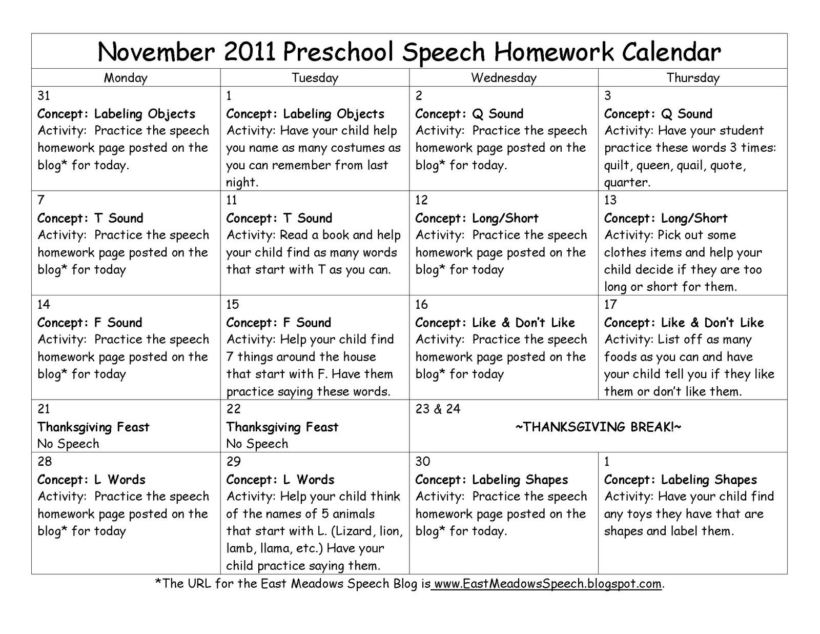 East Meadows Speech November
