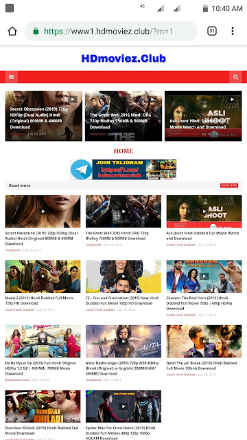 HDmoviez Club 2019 - Download Latest Hindi Dubbed Hollywood, Bollywood Movies in HD