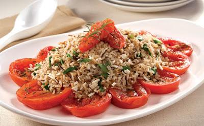 Arroz 7 Cereais com Agrião e Tomates ao Forno (vegana)