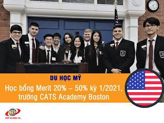 Du học Mỹ: Học bổng Merit 20% – 50% cho kỳ tháng 1/2021, trường CATS Academy Boston