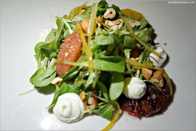 Entrante del Menú del Restaurante Post 390 de la Boston Dine Out de Marzo 2018