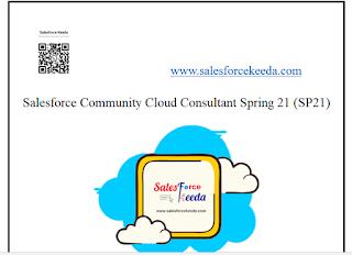 Salesforce Community Cloud Consultant Spring 21 (SP21) Dumps