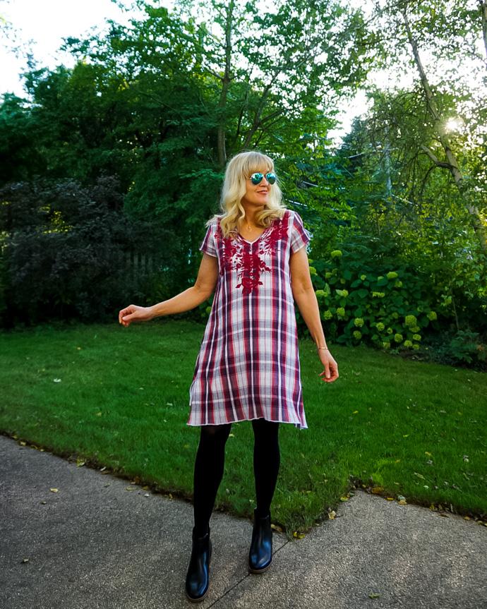 Caite & Kyla Plaid Dress
