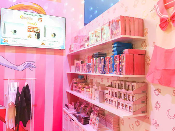 Sailor Moon merchandising showcase at the Toei and Bandai booth at the Japan Expo 2016