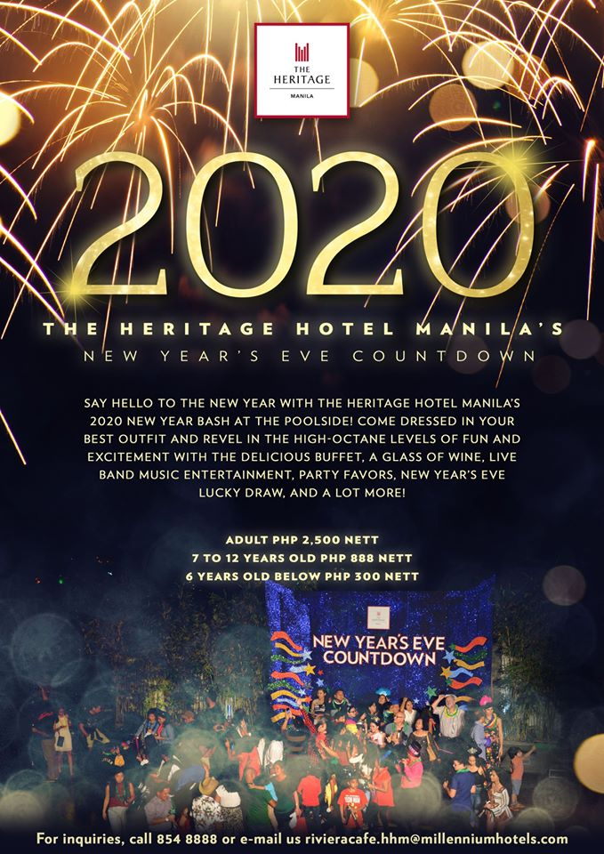 2020 The Heritage Hotel Manila's New Year's Eve Countdown