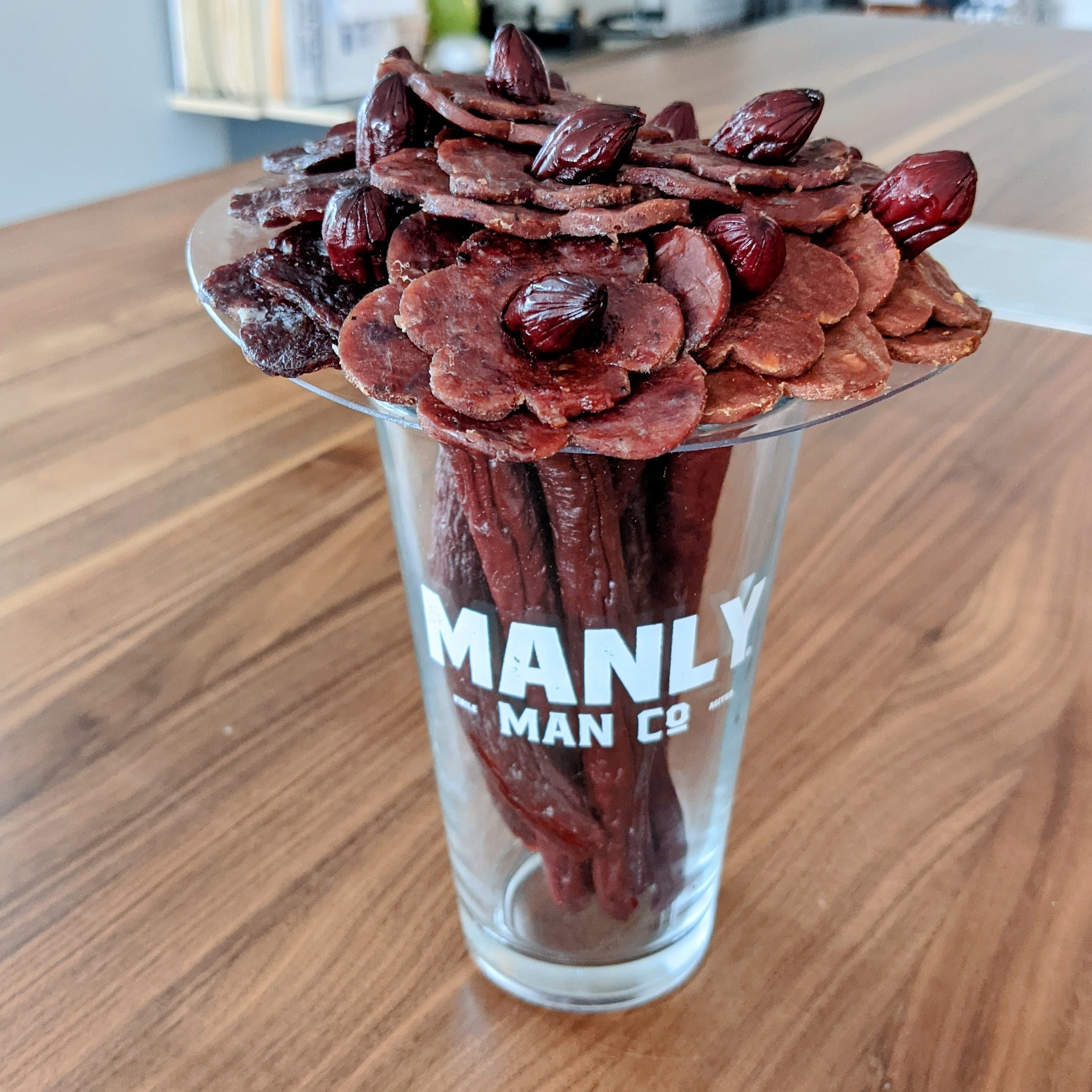 The Beef Jerky Bouquet from the Manly Man Co. | Taste As You Go