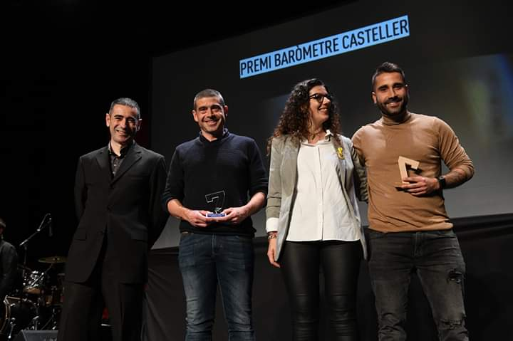 2 colles premiades a la #NitDeCastells amb el Premi Baròmetre 2019