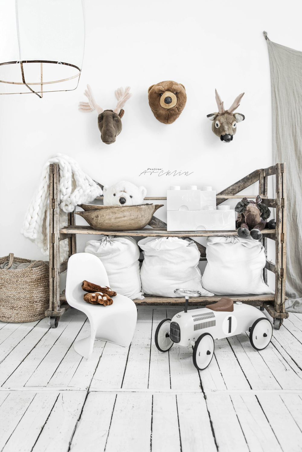 WHITE + NATURALS FOR KIDS ROOM