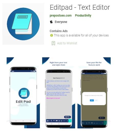 Editpad App For Students Learning Teacher