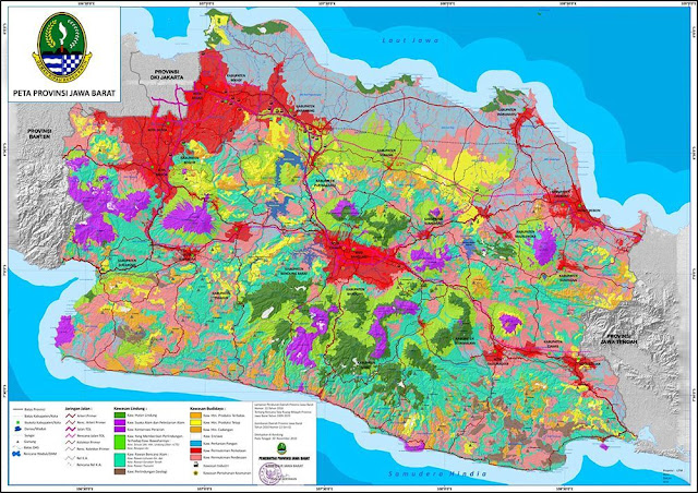 Peta Provinsi Jawa Barat, Jumlah dan Daftar Nama Daerah Kota / Kabupaten di Provinsi Jawa Barat