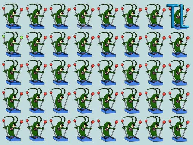 Encuentra los 5 plankton diferentes