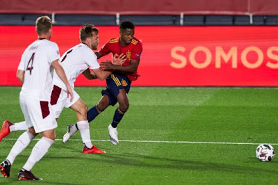 ملخص وهدف فوز اسبانيا علي سويسرا (1-0) دوري الامم الاوروبية